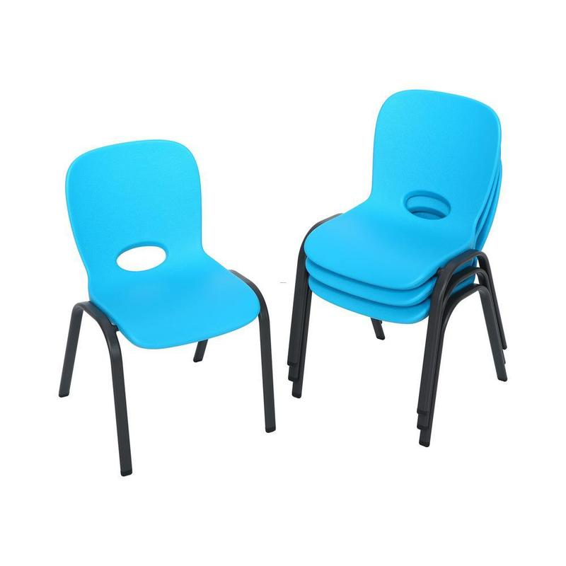 Kids Chairs, Lifetime Blue Stacking Kids Chair (Set Of 4)