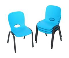 Lifetime Blue Stacking Kids Chair (Set Of 4)