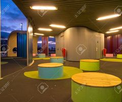 Waiting Area In Modern Dutch Design Busstation Stock Photo, Picture And Royalty Free Image. Image 12262179.