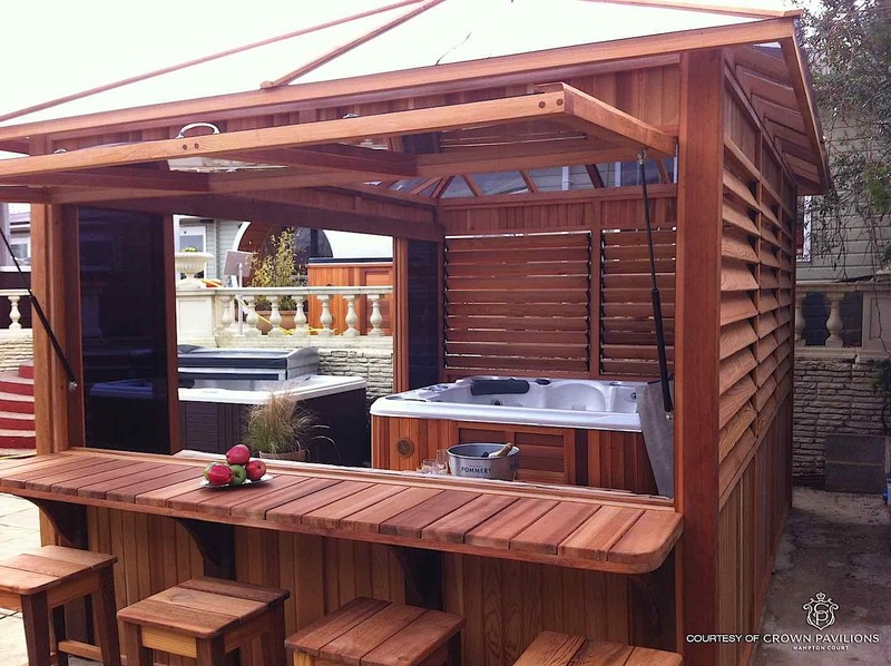 Hot Tub Encloser, Cedarwood Gazebos