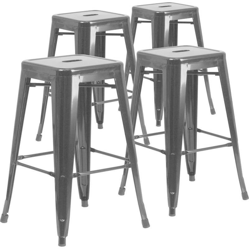 "Barstool Pictures, Mainstays 29"" Ladder Back Black Barstool, Multiple Colors"
