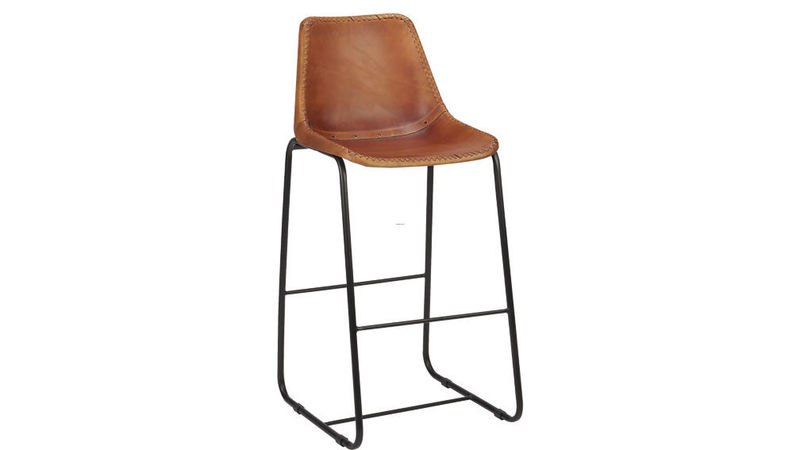 "Barstool Pictures, Roadhouse Leather 30"" Bar Stool"