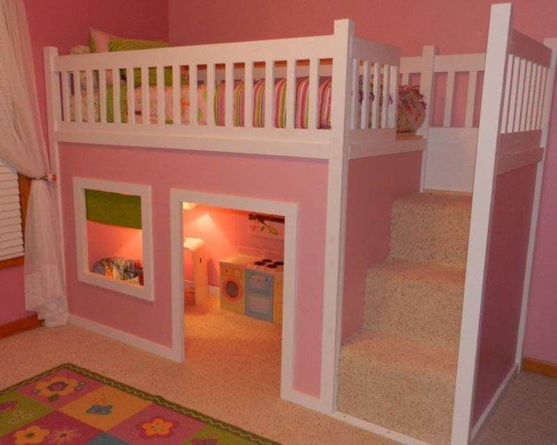 Lofted Bed Girl Ideas, Best 25+ Bunk Beds For Girls Ideas On Pinterest