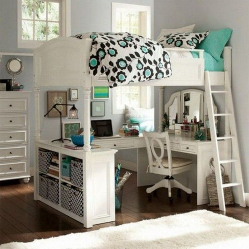 Lofted Bed Girl Ideas, Best 25+ Girls Bunk Beds Ideas On Pinterest