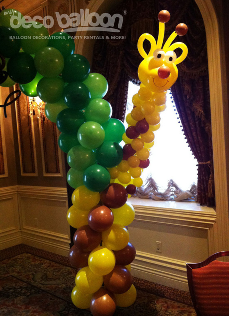 Farm Animal Balloon Columns, Balloon Decoration, My Deco Balloon Jungle Safari Balloon Decorations