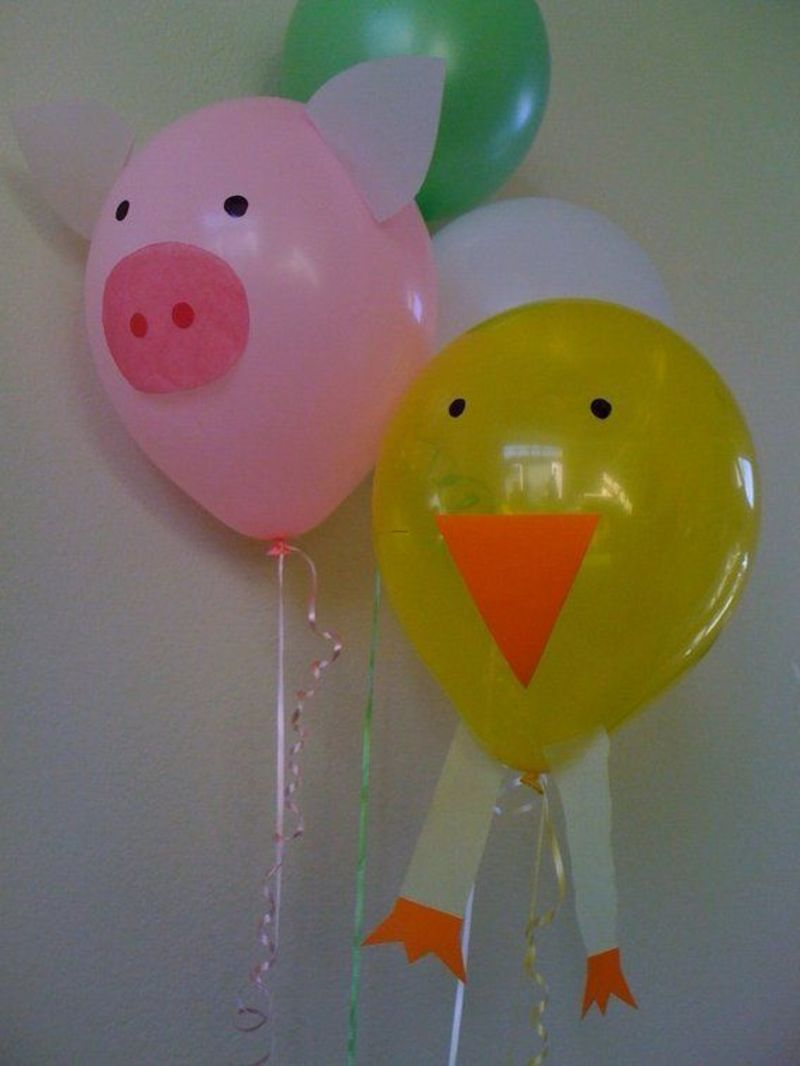 Farm Animal Balloon Columns, 25+ Best Farm Party Decorations Ideas On Pinterest