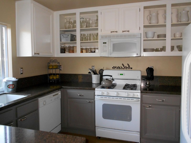 Liwes Painted Kitchen, How To Paint Kitchen Cabinets Grey Trends And Lowes Design Picture