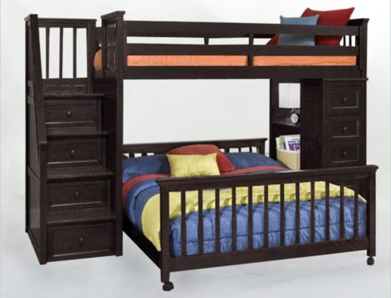 Girls Bunk Beds With Double Bed On Bottom, Top 25+ Best L Shaped Bunk Beds Ideas On Pinterest