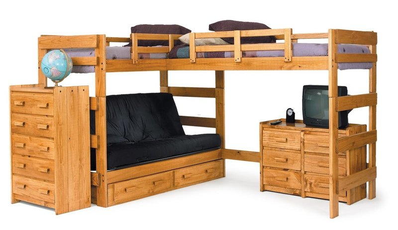 Girls Bunk Beds With Double Bed On Bottom, Twin Over Full Bunk & Loft Beds You'll Love