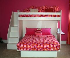 Queen Bed. Bunk Beds With Queen On Bottom