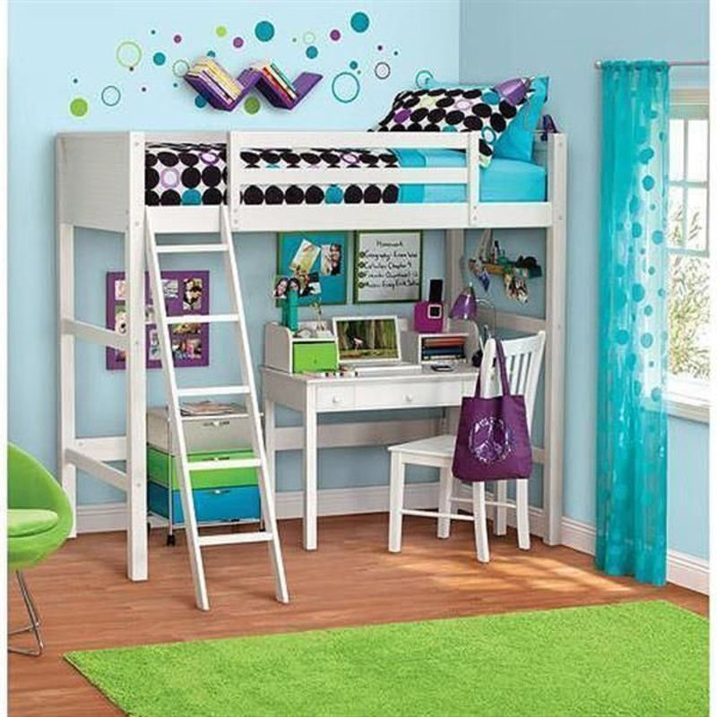 Girls Bunk Beds With Double Bed On Bottom, Top 25+ Best Girl Loft Beds Ideas On Pinterest