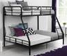 Your Zone Twin Over Full Wood Bunk Bed, Walnut