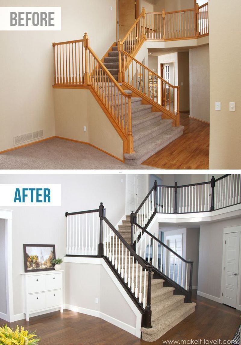 Diy Railings, Top 25+ Best Painted Stair Railings Ideas On Pinterest