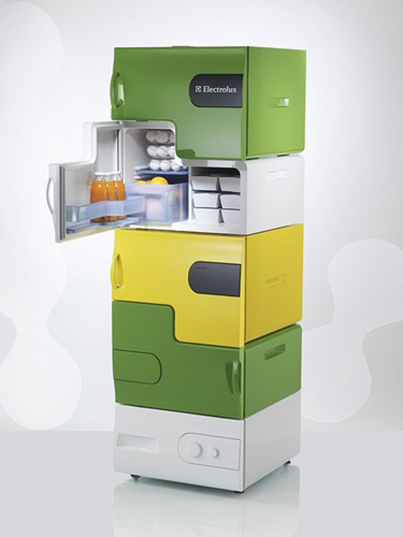 Frigo Design, Flatshare Fridge Separates Your Roommate's Rotten Food From Yours