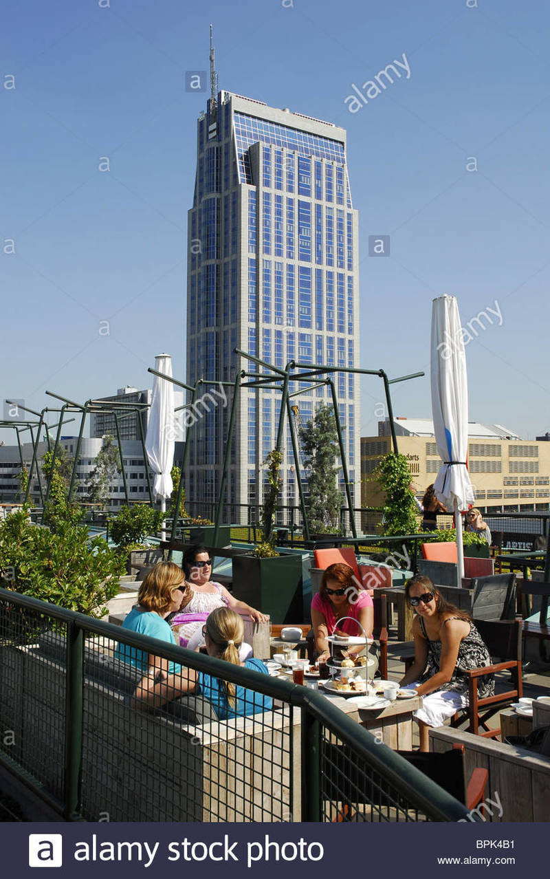 Restaurant Modern Roof, Modern Architecture, Women At Grand Cafe Restaurant Engels On The Stock Photo, Royalty Free Image