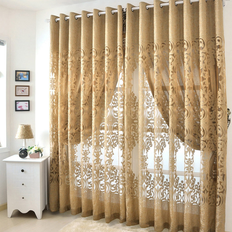 Living Room Curtains, Modern Hollow Out Living Room Best Curtains