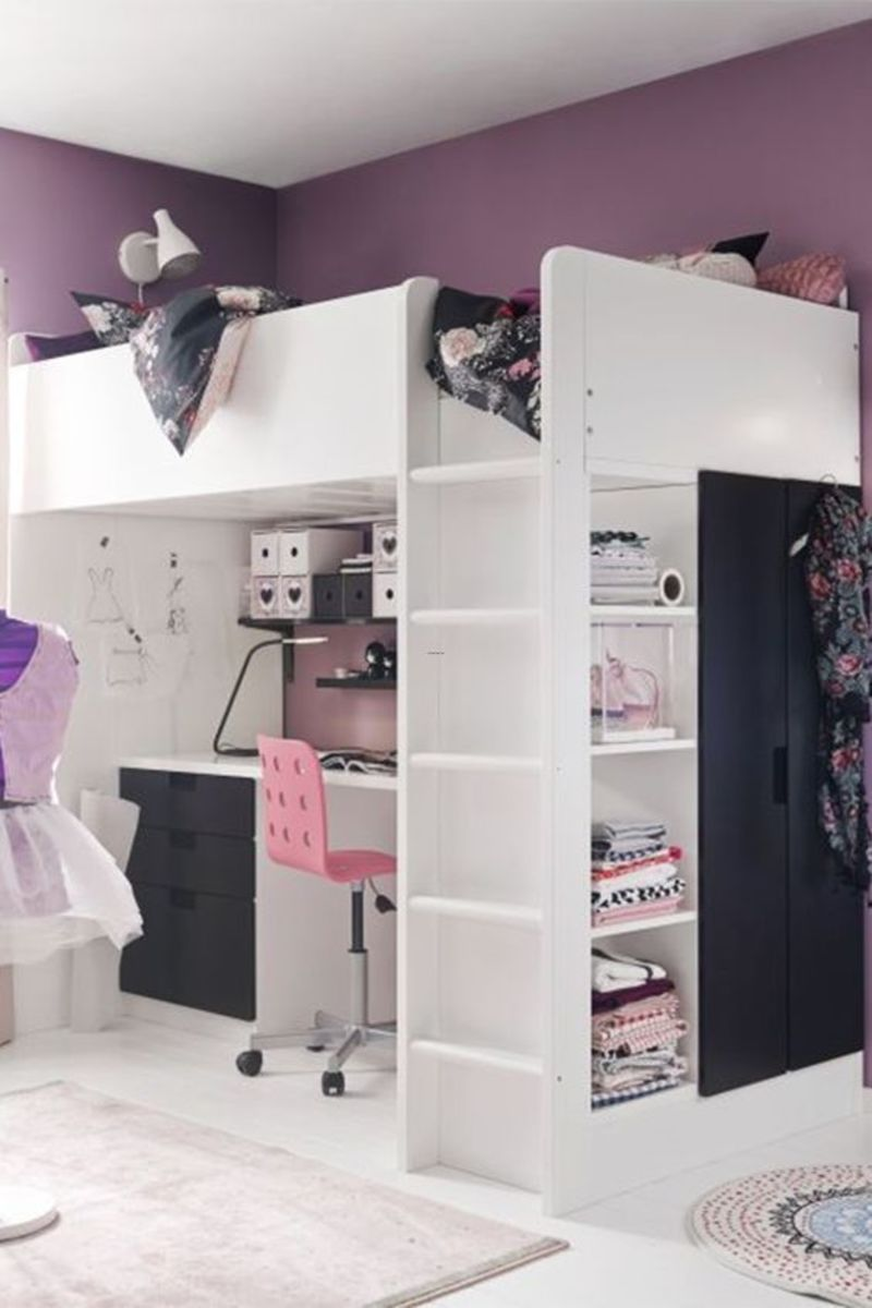 Ikea Teenage Girl Bedroom Ideas, Best 20+ Loft Bed Ikea Ideas On Pinterest